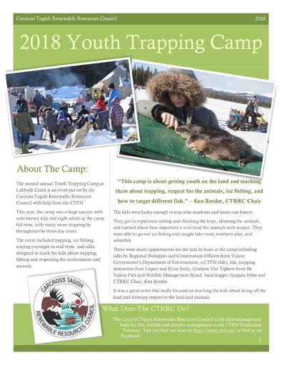 Youth Trapping Camp Newsletter